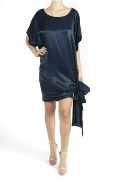 Erin Fetherston  Tie Hem Dress - Navy