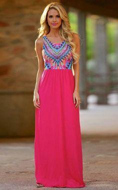 Just Dreaming Retro Maxi Dress
