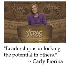 Carly Fiorina on Leadership (Presidential candidate?)