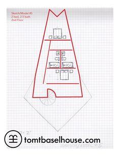 Rodney Allen Trice's Basel House Model 5 - first rough floor plan