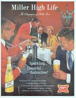 Miller High Life Beer on Draught 1965 Ad Picture