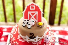 Get outdoors and have some fun for this Farm themed birthday from Katrina Elena Photography ! These kids are having a blast petting the animals and enjoying the activities at this creative event. Farm Birthday Cakes, 5th Birthday Party Ideas, Cowboy Birthday, Birthday Fun, Farm Animal Party, Barnyard Party, Farm Party, County Fair Birthday, Farm Cake
