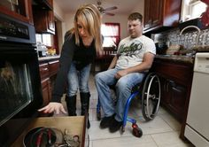 Sgt. Pittman and His Wife Make Sure He Can Reach Kitchen Items from His Wheelchair