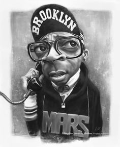 Spike Lee [By Stephen Lorenzo Walkes - Mars Blackmon] #Caricature #FunnyFaces