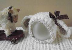 Crochet  Photo  prop  Little Lamb bonnet hat 0-6m,Easter hat PATTERN PDF