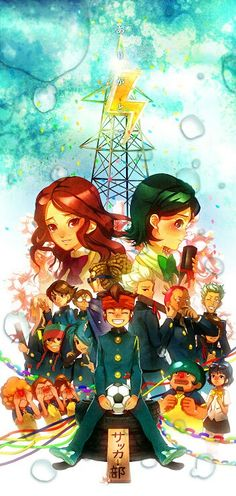 The team of Raimon Inazuma Eleven Go, Marvel, Manga, Anime, Studio Ghibli, Cartoon Art, Fan Art, Poster, Fictional Characters
