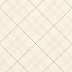 Long Island Checked Cream Vinyl Wallpaper: Image 2