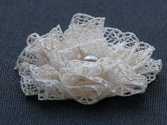 flower out of lace-how to