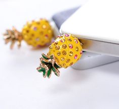 1PC Bling pineapple dust plug charm  by lovelymyphone, $4.99
