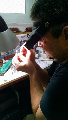Treinando a mão, com micro pintura.