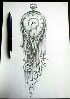 Wie der Zeichner das hin gekriegt  hat das die Uhr so verläuft ist super gut gelungen