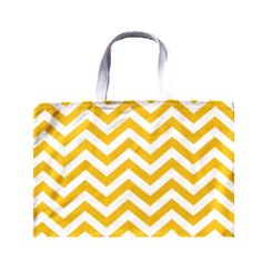 Yellow Tote Bag Beach Bag Yellow Chevron by AnyarwotStyle on Etsy, $16.00
