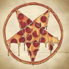 evil pizza pentagram - axeslasher