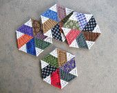 Quilted Coasters Mug Mats Fabric Coasters Brown and by dlf724