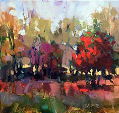 Fall Reds by Trisha Adams Oil ~ 12 x 12