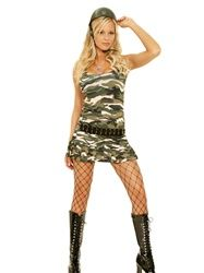Camouflage Cadet Cutie Sexy Costume for anybody that wants a camo or army look! Sexy mini skirt costume!    http://www.anysizelingerie.com/product-p/9722.htm