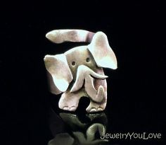 Sterling Silver Elephant Ring  Ellie by JYLbyPeekliu on Etsy, $69.95  I have to have this!!! Now!