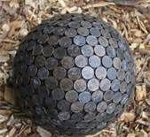 Cool! Styrophome Covered in pennies