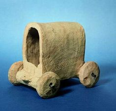Model of covered wagon, near Carchemish, Syria, 3rd millennium BCE. Earliest use of the wheel recorded from late 4th millennium BCE.