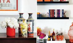 Marcus Design: {house tour: fresh & feminine} black floating shelf