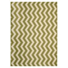 Anchor your patio furniture or add a pop of pattern to your foyer with this versatile rug, showcasing a chic chevron motif.   Produc...