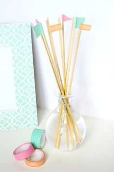 DIY reed diffuser and washi tape going to make this for my roommates as a welcome home present in august.