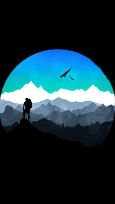 samsung wallpaper illustration The Traveller Cool Wallpaper, Mobile Wallpaper, Wallpaper Backgrounds, Landscape Illustration, Illustration Art, Amoled Wallpapers, Wallpapers Android, 3d Camera, Aesthetic Wallpapers