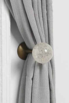 Plum Bow Clear Glass Curtain Tie-Back - Urban Outfitters