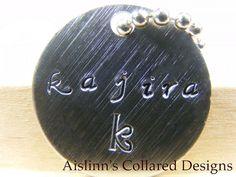 Gorean Kajira with Kef Handstamped Keychain by aislinnscollared