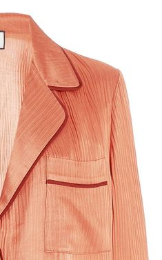 Orlan Crinkled Satin Shirt By Alexis | Moda Operandi Satin Shirt, Orange Dress, Crinkles, Orange Color, Button Up Shirts, Pajamas, Blouses, Buttons, Pants