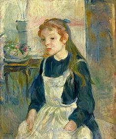 bofransson:    Berthe Morisot - Young Girl with an Apron