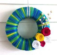 yarn wreath :)