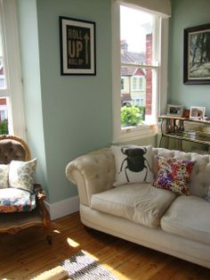 """Ruthie's """"Sociable Green"""" Room - Our flat was shortlisted on Apartment Therapy's Room For Colour 2013 competition."""