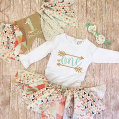 First birthday outfitbaby girl birthday by BennyTillStitch on Etsy