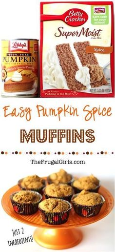 Pumpkin Spice Muffins Recipe with Cake Mix! ~ from TheFrugalGirls.com ~ this delicious Pumpkin Muffin Recipe is SO easy. Just 2 ingredients!! Nothing beats a tasty pumpkin muffin on a chilly Fall day! #recipes #thefrugalgirls