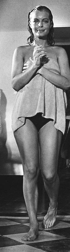 """Romy Schneider sur le tournage de """"La Piscine""""76"""