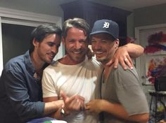 Colin O'Donoghue, Sean Maguire and Michael Raymonds