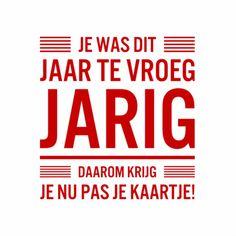 Te late verjaardagskaart met een smoes :) Design: Lobol Te vinden op www.kaartje2go.nl