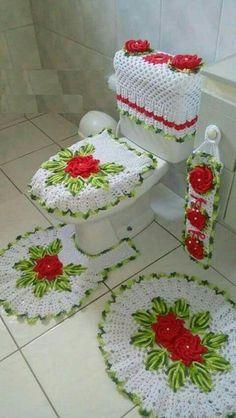 Crotchet Patterns, Doily Patterns, Crochet Blanket Patterns, Baby Blanket Crochet, Bathroom Crafts, Bathroom Rugs, Diy And Crafts, Crafts For Kids, Diy Handbag