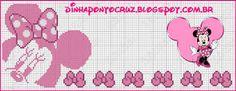 Dinha Ponto Cruz: Mickey e Minnie monocromáticos em ponto cruz