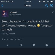 Nah for real if you getting cheated on let it happen and focus on what you got going on