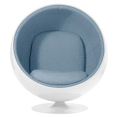 The Aeon Luna Chair can be easily defined as cozy, inviting, chic and a style statement in itself. It is specially designed with superior strength and longevity in mind. Ball Chair, Egg Chair, Colorful Chairs, Colorful Furniture, Pink Desk Chair, Art Deco Furniture, Furniture Chairs, Blue Furniture, Desk Chairs