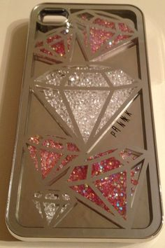 PINK by Victorias Secret iPhone 4 / 4S Hard Case Cover -Mirrored Jewelled Cell Phone, Cases & Covers - http://amzn.to/2iezkJl