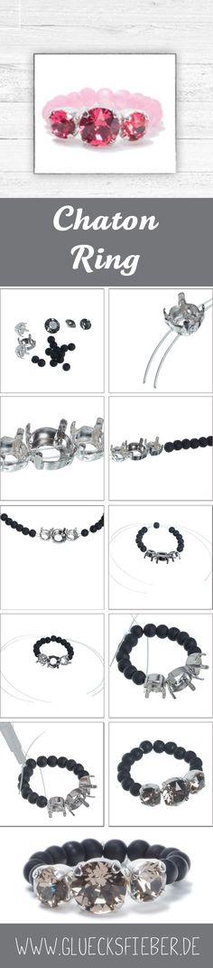 Glitzernder Spiral Armreif mit viel Strass und kleinen geschliffenen Perlen