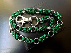 Wallet Chain Biker Chain Green Chain Black Ice by JSWALLETCHAINS