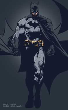 "baung: "" Batman (Original art by Jim Lee) made from Adobe Ideas on iPad. """