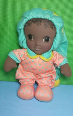 Vintage Playskool JAMMIE PIES SNUZZLE African American Black Plush Doll To ~ Hard to find in this condition!
