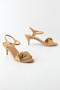Golden Cup Kitten Heels #anthropologie