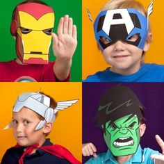 Tektonten Papercraft - Free Papercraft, Paper Models and Paper Toys: Printable Avengers Masks for Kids