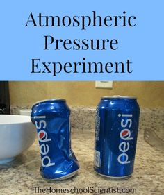 Test the way air pressure is always pressing on everything and how important that is to stability with this atmospheric pressure experiment